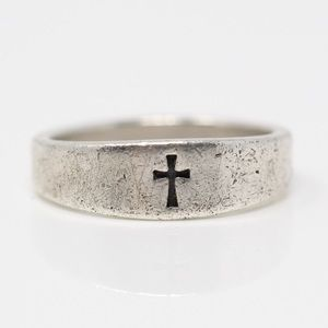 JAMES AVERY Sterling Small Crosslet Ring 5.5
